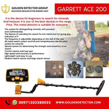 Garrett ACE 200 from Golden detector The best American metal detector