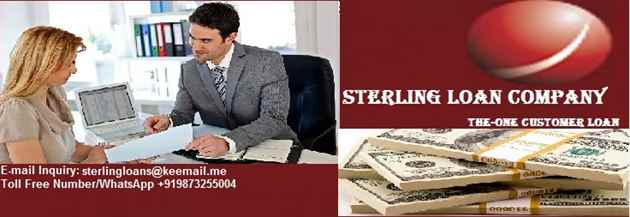 STERLING LOAN COMPANY OFFER ALL KINDS OF FINANCIAL LOAN AT 3