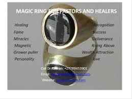 The pastors spiritual magic ring that gives powers to perform miracles