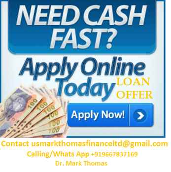 URGENT LOAN OFFER ARE YOU IN NEED CONTACT