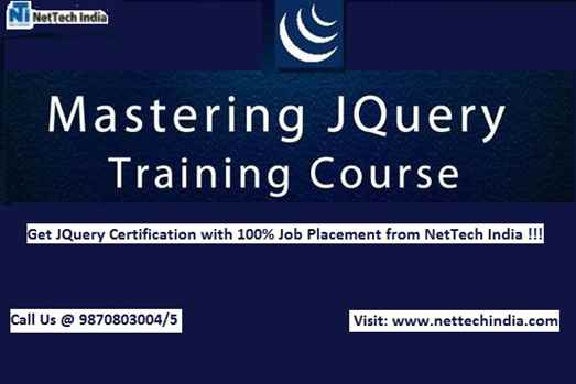 Jquery Training Institute  Jquery Course  NetTech India