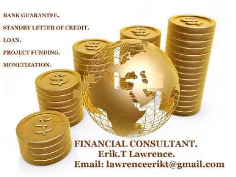 LeaseSale Bank GuaranteeSBLC,Financing,Loan,Monetization,MT103,MT799.
