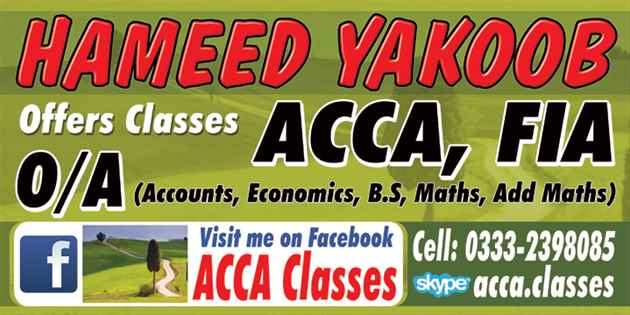 ACCA F3 Online Tutor in Dubai WhatsApp 923332398085 Skype acca.classes