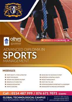 Advanced Diploma in Sports Management