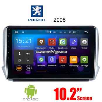 Peugeot 2008 Android Car Radio GPS WIFI navigation camera parts
