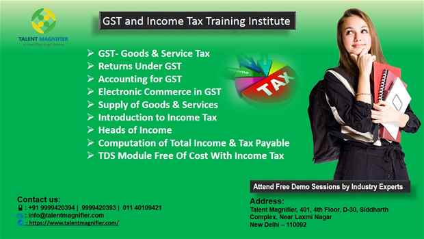 The Best Training Institute For GST Course in Delhi.