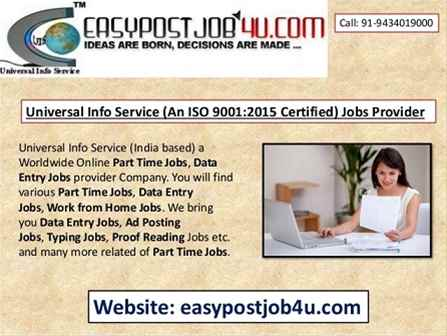 HOME BASED ONLINE DATA ENTRY JOB