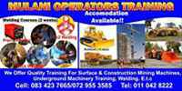 Bulldozer dumptruck grader accredited training school in botswana27729553685