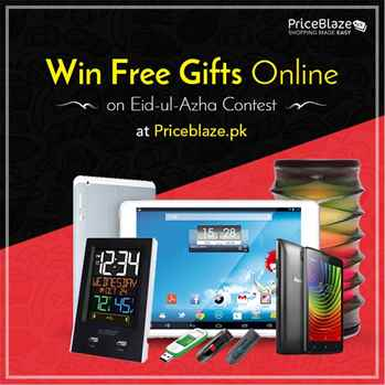 Win Free Gifts Online on Eid-ul-Azha Contest at Priceblaze.pk
