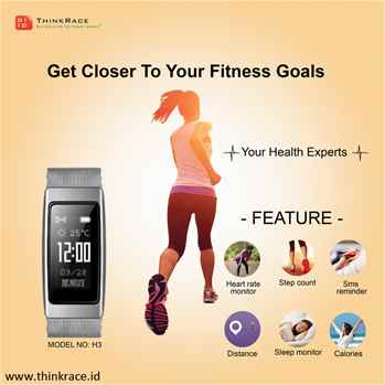 Smart Bluetooth fitness bracelet H3  Reach your fitness goals in style