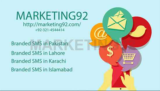 Branded SMS in Pakistan  Bulk SMS in Pakistan