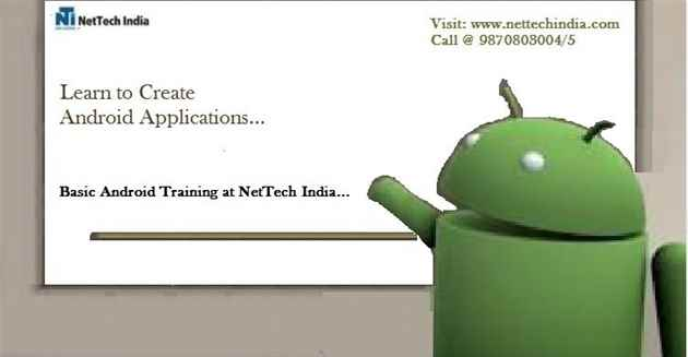 Basic Android Course Training  Basic Android Classes  NetTech India