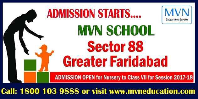 MODERN VIDYA NIKETAN SCHOOL SECTOR 88 FARIDABAD REGISTRATION OPEN
