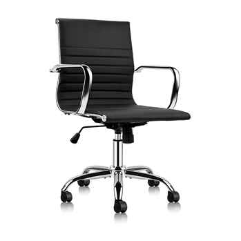 Mastery Mart Mid Office Chair Soft Upholstery Chair - Toptopdeal.co.uk