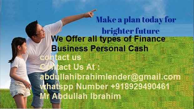 BUSINESS AND PERSONAL LOAN OFFER HERE
