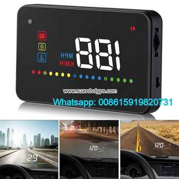 3.5Inch Car HUD Head Up Display Speedometer OBD2 II EUOBD