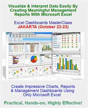 Excel Dashboards MasterClass in JAKARTA on October 22-23, 2018