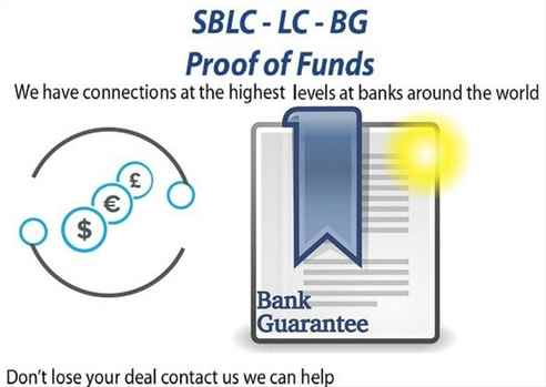 Project Business Financing BG-SBLC-MT760 Credit-Loan Monetizing MT799 Eurobonds