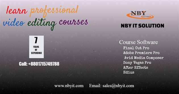 Professional video editing course academy Dhaka Bangladesh