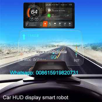 car hud display smart robot music bluetooth android GPS Voice Dialog Hand CV