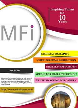 SHORT TERM COURSES AT MINDSCREEN FILM INSTITUTE