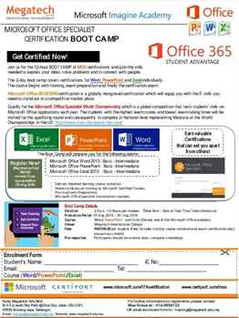 Microsoft office training in Subang