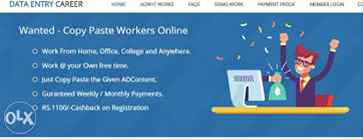 Online Jobs  Part Time Jobs  Home Based Online jobs  Data Entry Jobs Without Investment.