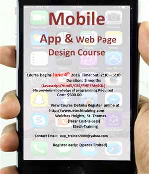 Mobile App Design and Development Course
