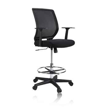 HAPFIY Mesh Drafting Stool Chair, Tall Standing Chair - Toptopdeal.co.uk