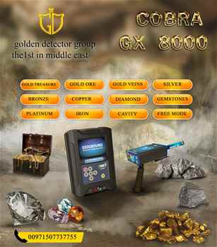Gold and treasures detector Cobra GX8000  available now