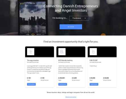 Where can you get entrepreneurial service in Denmark.